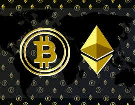 #16 for Create a wallpaper image for my site (themes : finance/crypto currencies/bitcoin/planet) by Sharelljordan333