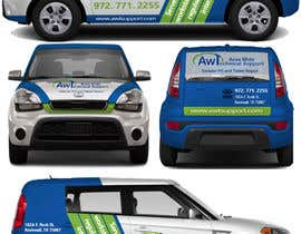 #28 for Create a Mockup Vehicle Wrap Design af TheFaisal