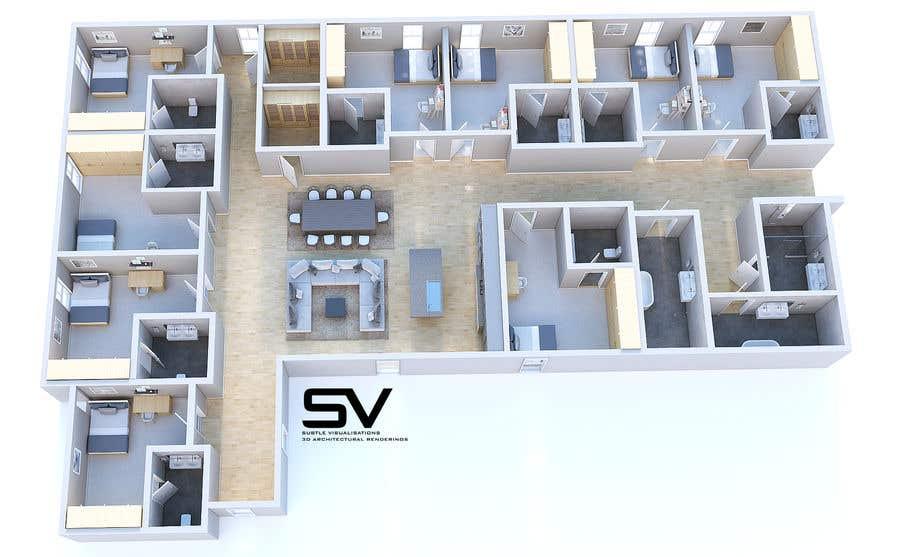 Entry 14 By Prakkyy For 3d Floor Plan Of Nursing Home Freelancer