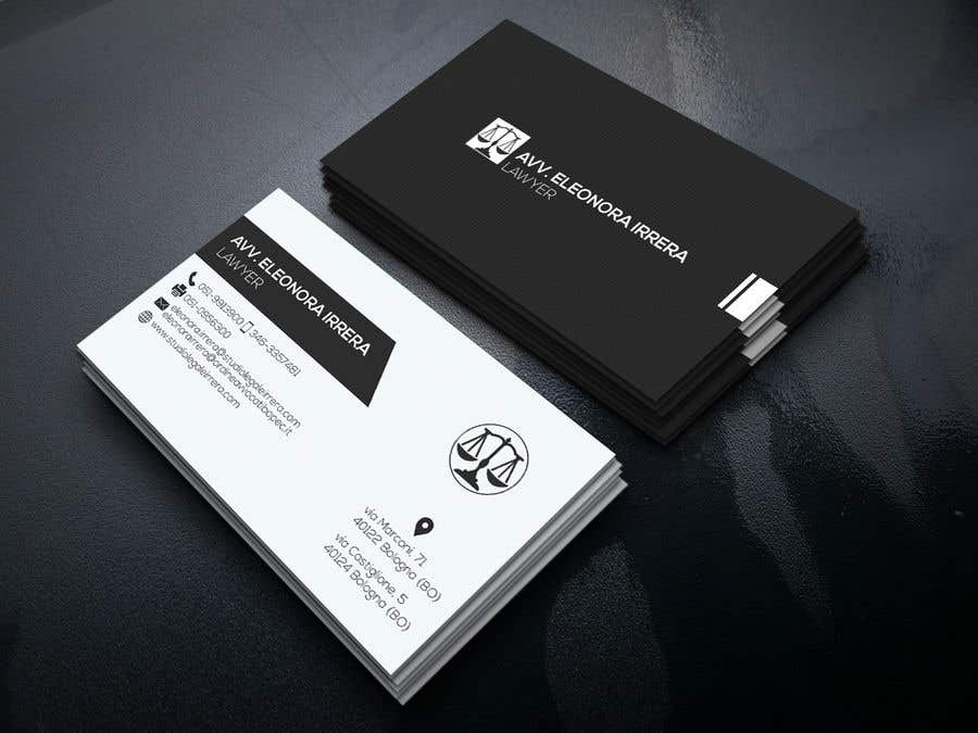 Entry 202 by Naymhosain for Design Business Cards for Lawyer