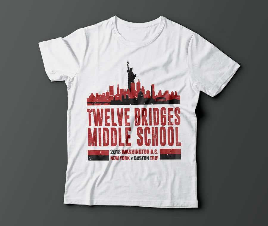 Konkurrenceindlæg #23 for Design a t-shirt for Washington DC, New York & Boston Trip
