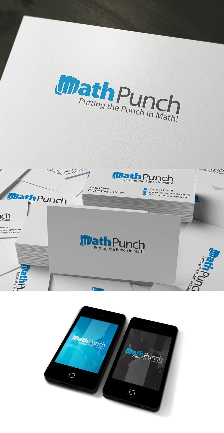 Конкурсная заявка №36 для Logo Design for Math Punch - Putting the Punch in Math