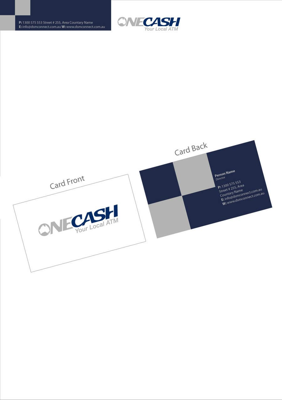 Proposition n°                                        50                                      du concours                                         Stationery Design for ONECASH LIMITED