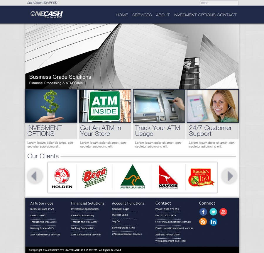 Конкурсная заявка №7 для Website Design for ONECASH LIMITED (ONE CASH)