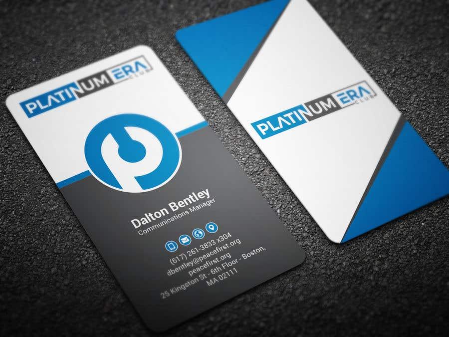 Entry #131 by BikashBapon for Design Business Card for Platinum Era ...