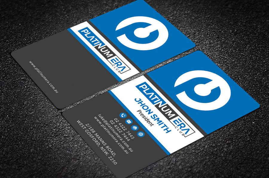 Entry #190 by rtaraq for Design Business Card for Platinum Era Club ...