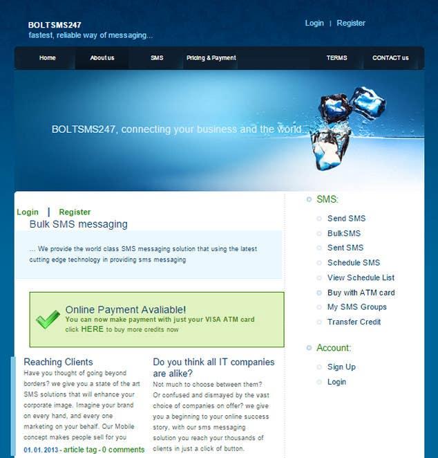 Penyertaan Peraduan #                                        2                                      untuk                                         A Custom PHP Bulk SMS Web Application (A Clone of www.ebulksms.com)