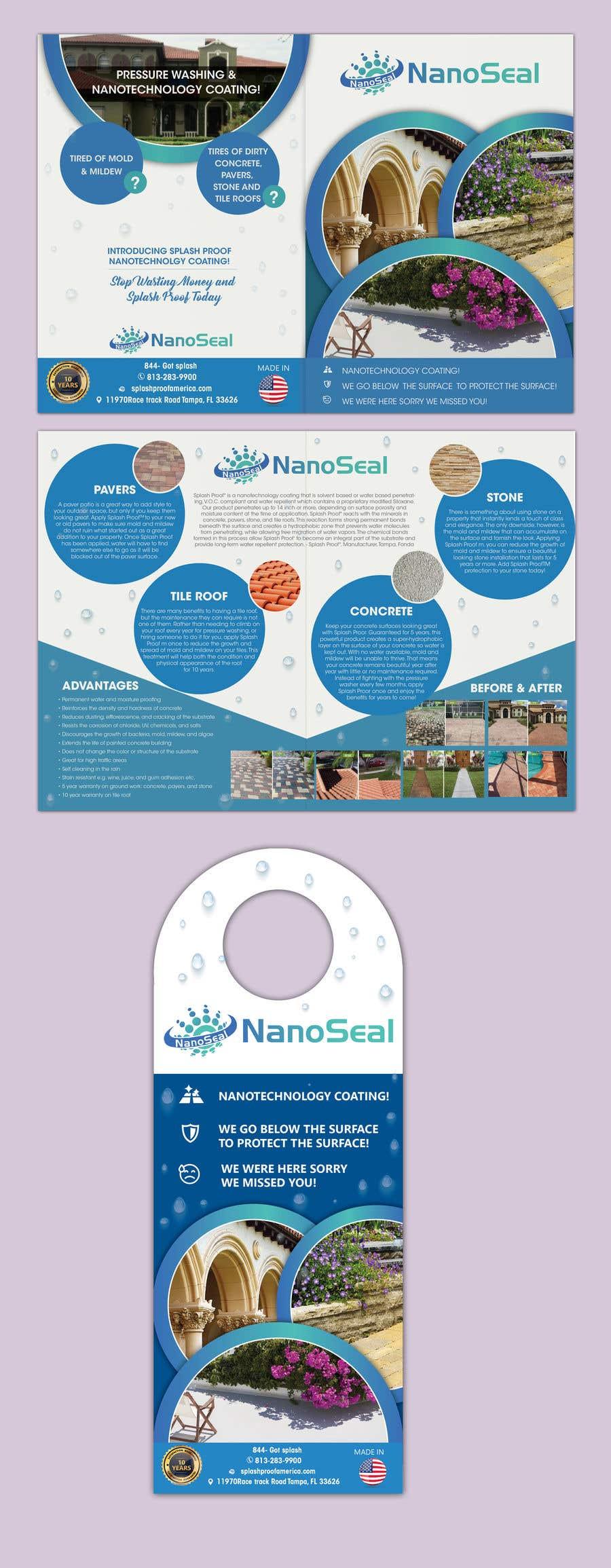Contest Entry #34 for NanoSeal Brochure & Doorhanger