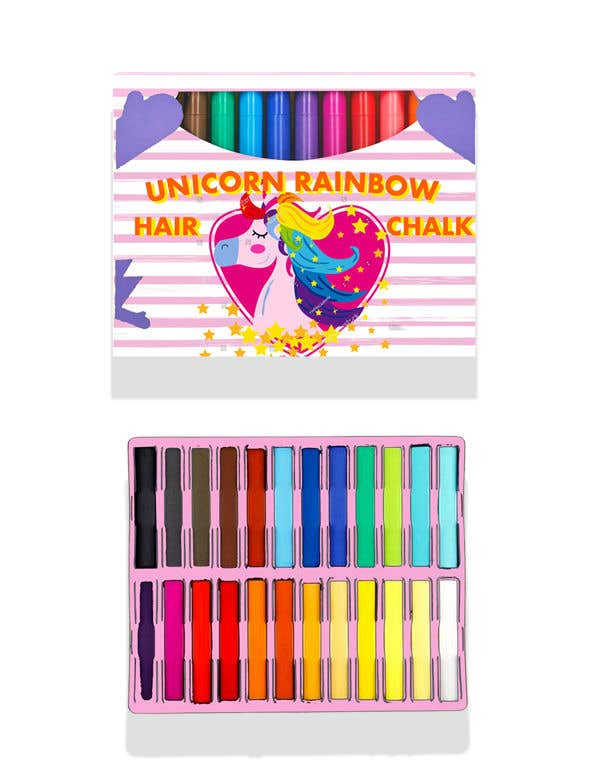 Konkurrenceindlæg #19 for Rainbow Unicorn Hair Chalk Package Design