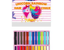 #19 for Rainbow Unicorn Hair Chalk Package Design af tingzhi