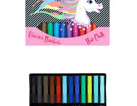 #20 for Rainbow Unicorn Hair Chalk Package Design af tingzhi
