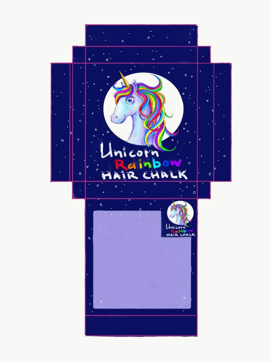 Konkurrenceindlæg #23 for Rainbow Unicorn Hair Chalk Package Design