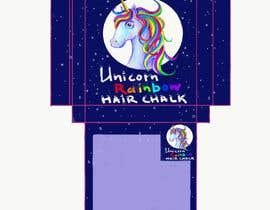 #23 for Rainbow Unicorn Hair Chalk Package Design af pkonovalenko