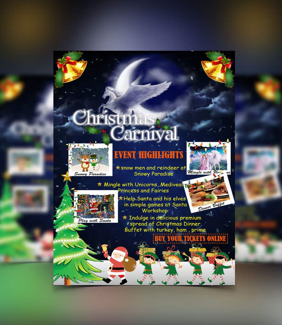 Contest Entry #69 for Design Christmas Carnival Marketing Material