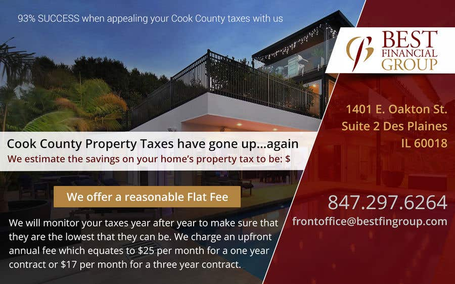 Contest Entry #44 for Postcard for Property Tax Appeals