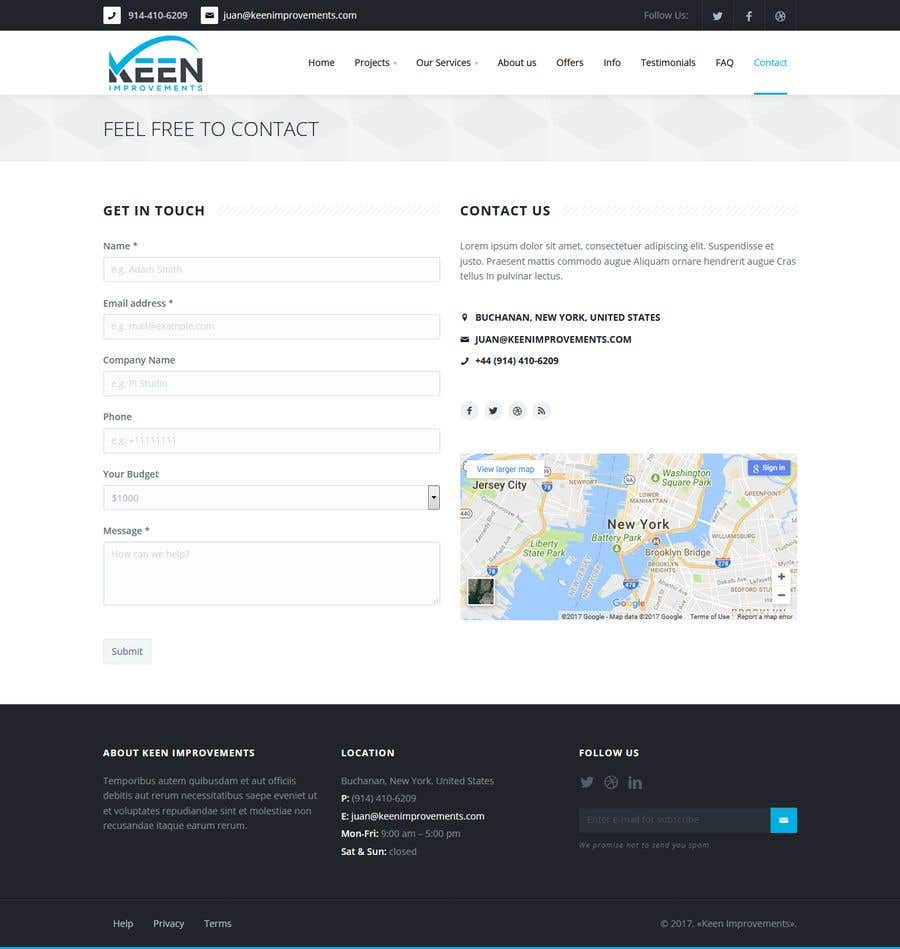 Contest Entry #12 for Create Website for Keen Improvements