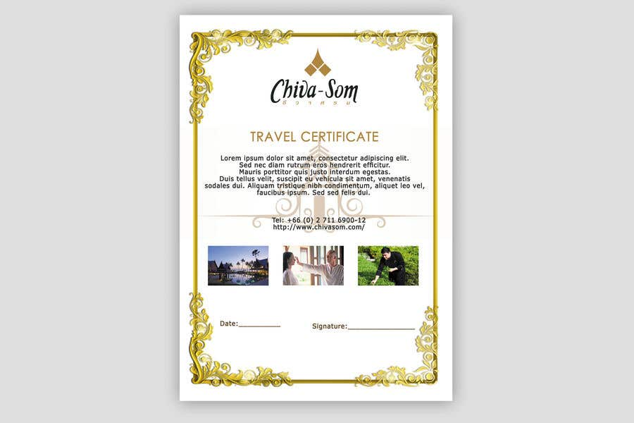 Entry 31 By Nitvar For Design A Travel Certificate Freelancer
