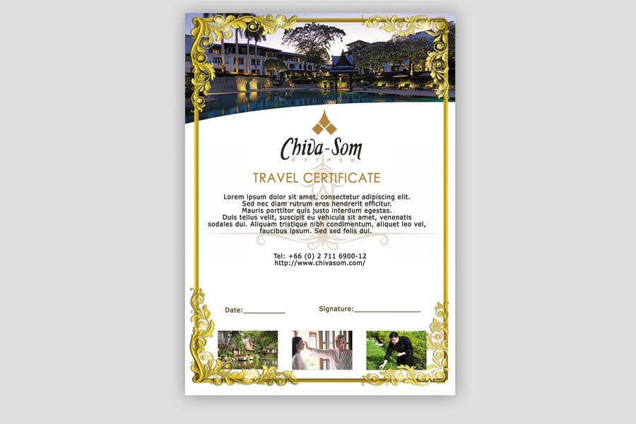 Entry 45 By Nitvar For Design A Travel Certificate Freelancer