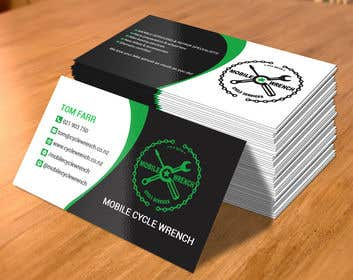 Bilde av                             Clean modern business card desig...