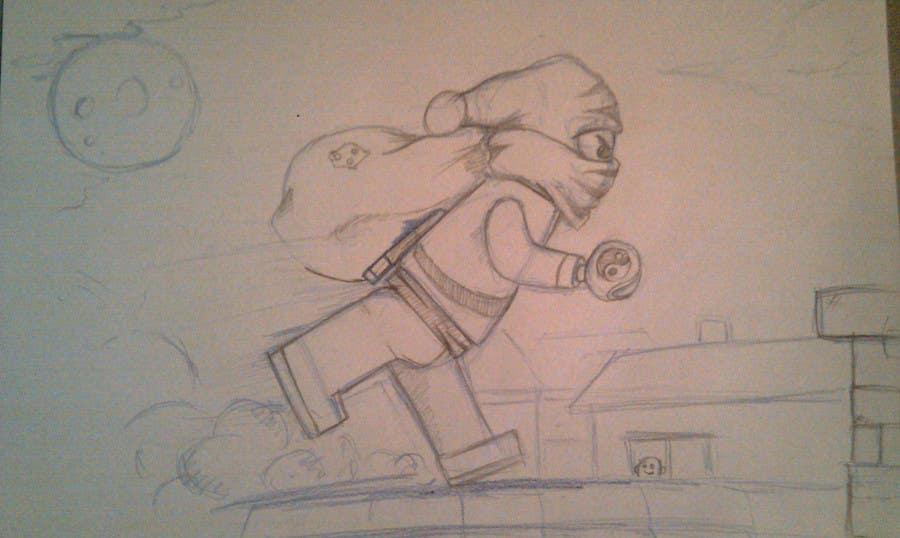 Penyertaan Peraduan #51 untuk Graphic Design for Christmas Ninja Outfit
