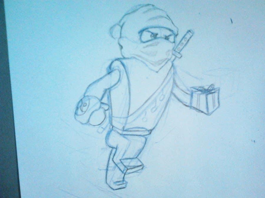 Penyertaan Peraduan #55 untuk Graphic Design for Christmas Ninja Outfit