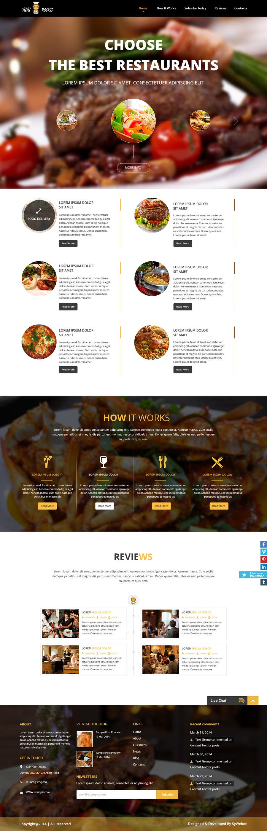 Entry 43 By Syrwebdevelopmen For Design A Website Template For