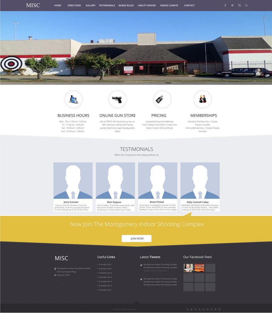 Penyertaan Peraduan #                                        12                                      untuk                                         Design a Website Mockup for Shooting Range