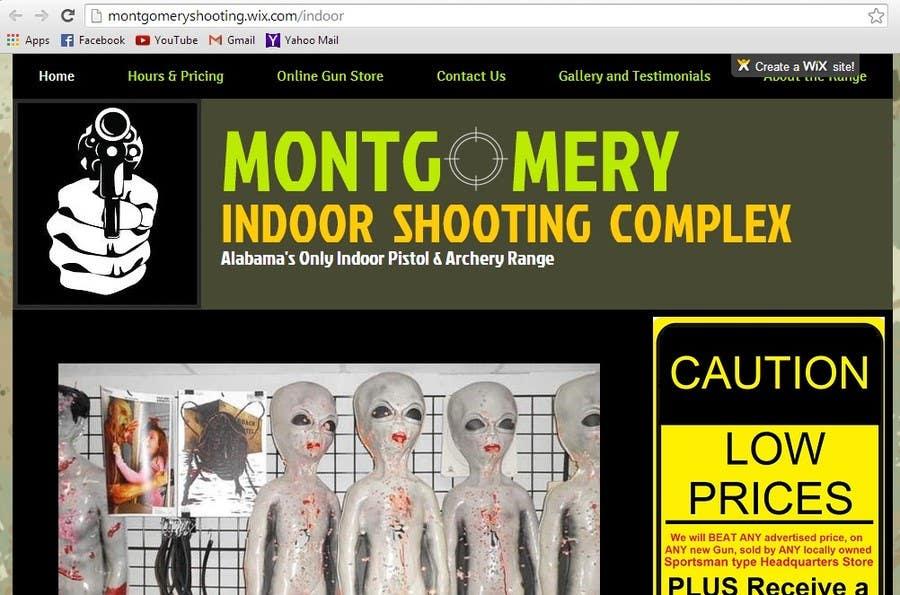 Penyertaan Peraduan #                                        14                                      untuk                                         Design a Website Mockup for Shooting Range