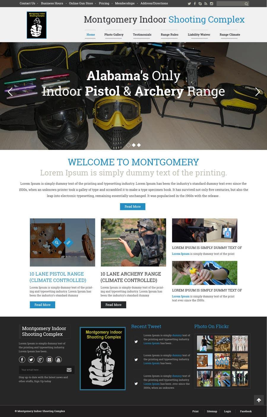 Penyertaan Peraduan #                                        15                                      untuk                                         Design a Website Mockup for Shooting Range