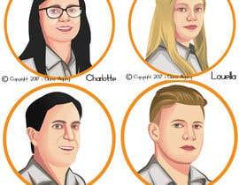 #29 untuk Cartoon drawing of 12 x small portrait photos. oleh GunaAgung06