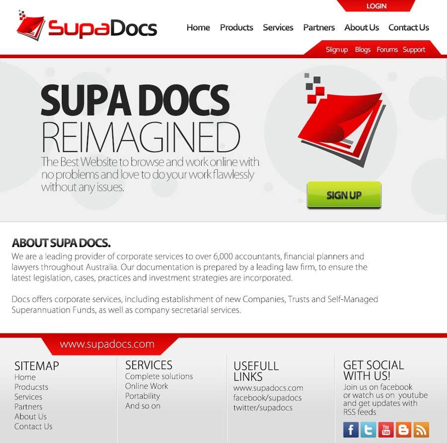 Konkurrenceindlæg #4 for Website Design for SupaDocs