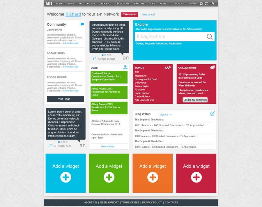 Inscrição nº                                         3                                      do Concurso para                                         Website Design for a Artist Social Network
