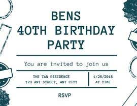 #53 for Design 40th Birthday Invitation by janainabarroso