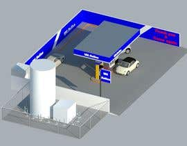 #29 para 3D design of a LCNG station for Energy Company por zamzamrin