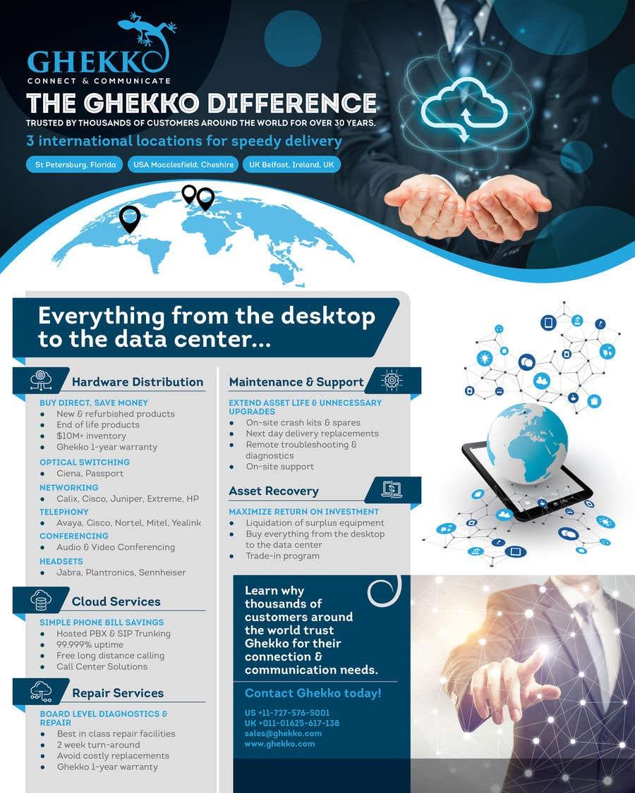 Inscrição nº 47 do Concurso para Design a one page sales brochure for Ghekko - a technology company