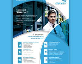 #62 per Design a one page sales brochure for Ghekko - a technology company da ahmedabdelrahim1