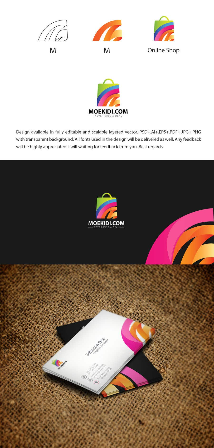 Entry #267 by Htawati for The design include 1. Logo 2. Letterhead 3 ...