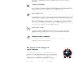 CodeWorth tarafından Design One Page for MBA Site için no 38