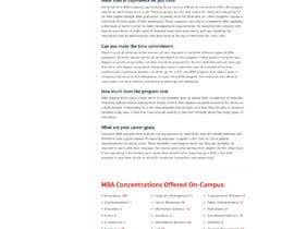 pixelwebplanet tarafından Design One Page for MBA Site için no 28
