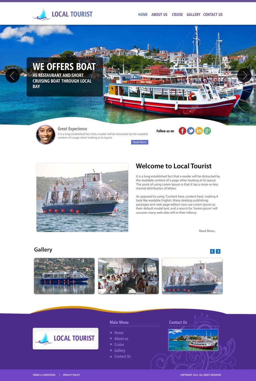 Penyertaan Peraduan #                                        7                                      untuk                                         Design a Website Mockup for local boat tourist tours