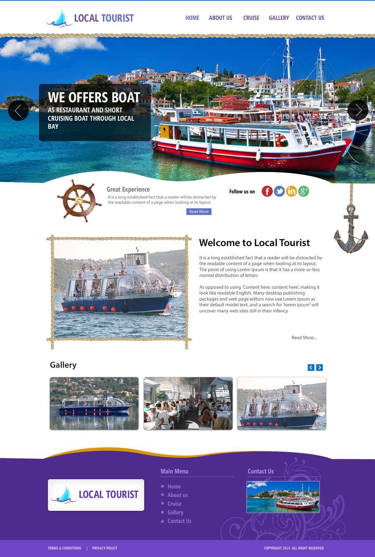 Penyertaan Peraduan #                                        9                                      untuk                                         Design a Website Mockup for local boat tourist tours