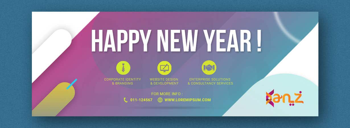 contest entry 3 for design new year banner illutrating services