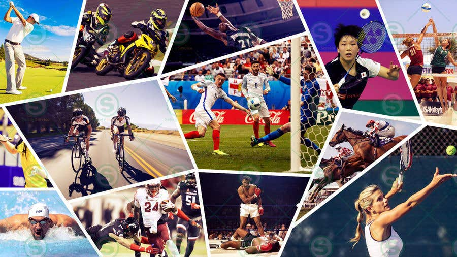 sports collage many background website contest entry snn