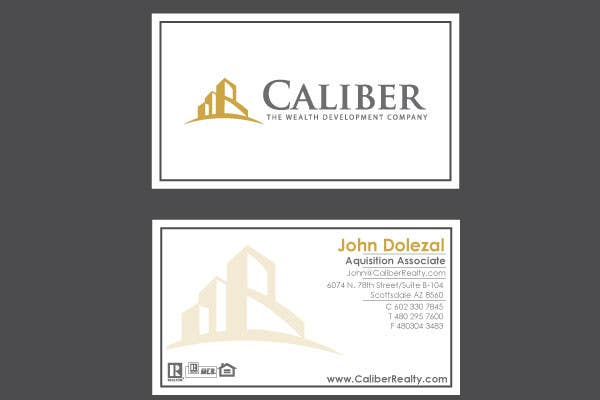 #48 for Business Card Design for Caliber - The Wealth Development Company by vanikhullar