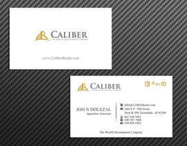 nº 32 pour Business Card Design for Caliber - The Wealth Development Company par McFOX