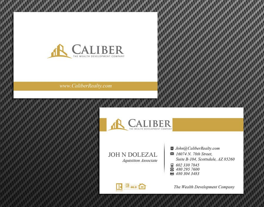 #33 for Business Card Design for Caliber - The Wealth Development Company by McFOX