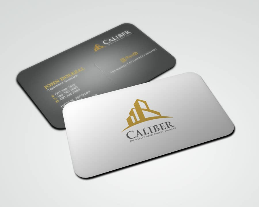 Kilpailutyö #37 kilpailussa Business Card Design for Caliber - The Wealth Development Company
