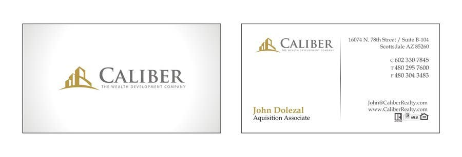 #3 for Business Card Design for Caliber - The Wealth Development Company by carlosoliveiras