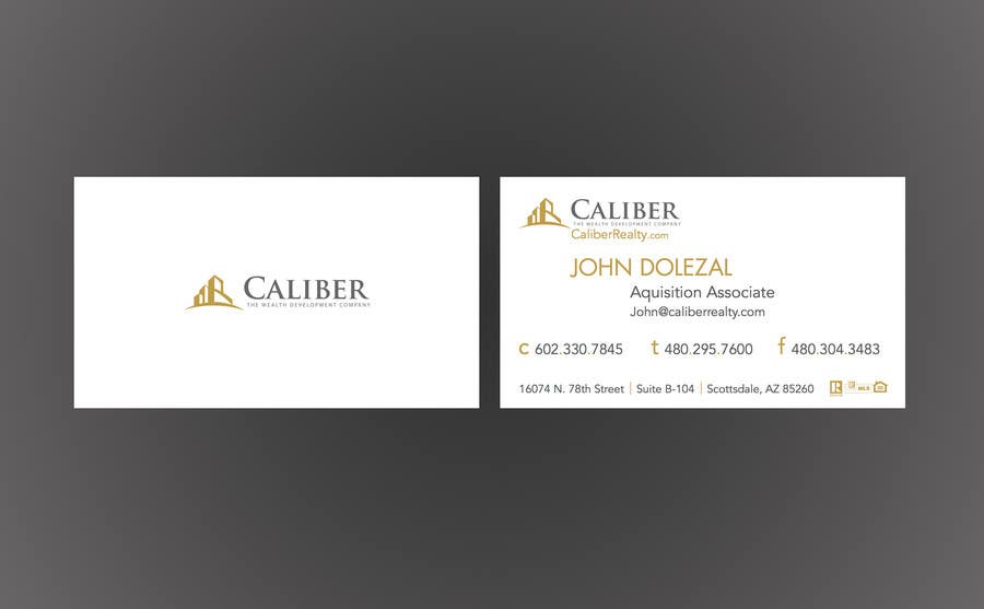 Proposition n°                                        11                                      du concours                                         Business Card Design for Caliber - The Wealth Development Company