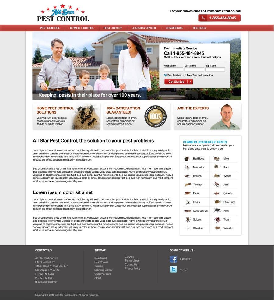 Konkurrenceindlæg #16 for Website Design for All Star Pest Control